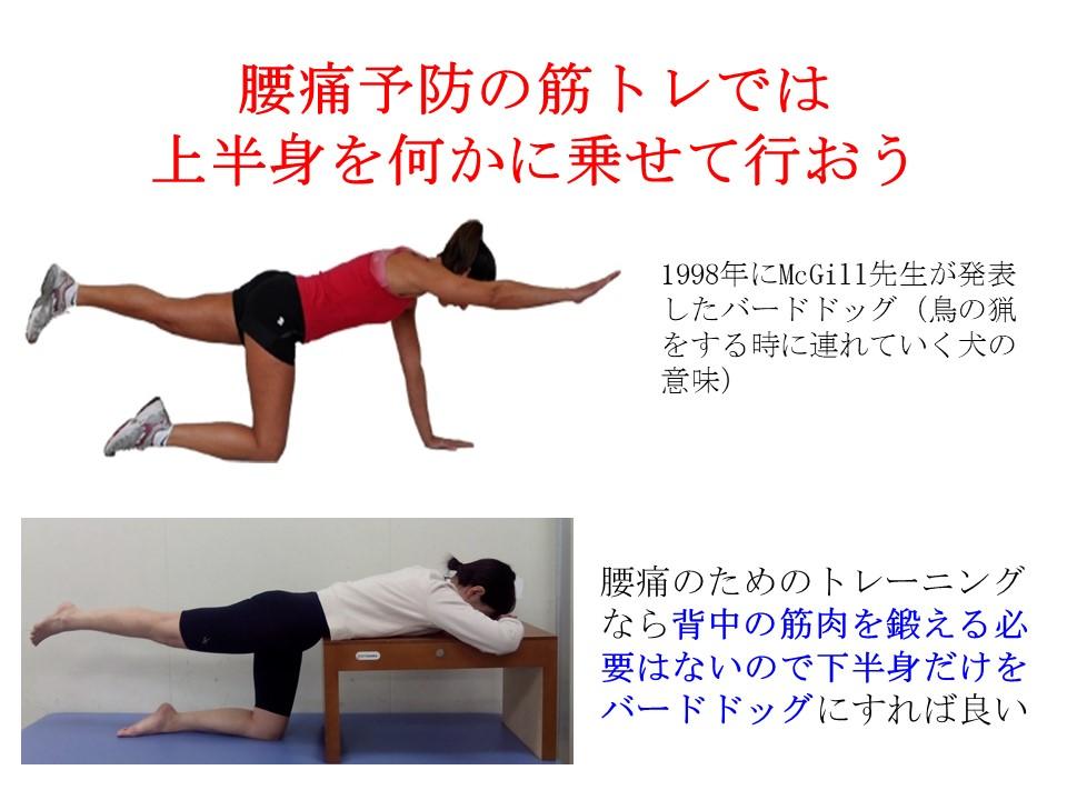 改正:腰痛持ちにコア・エクササイズはキツい。上半身をベッドに乗せて足を挙げよう。