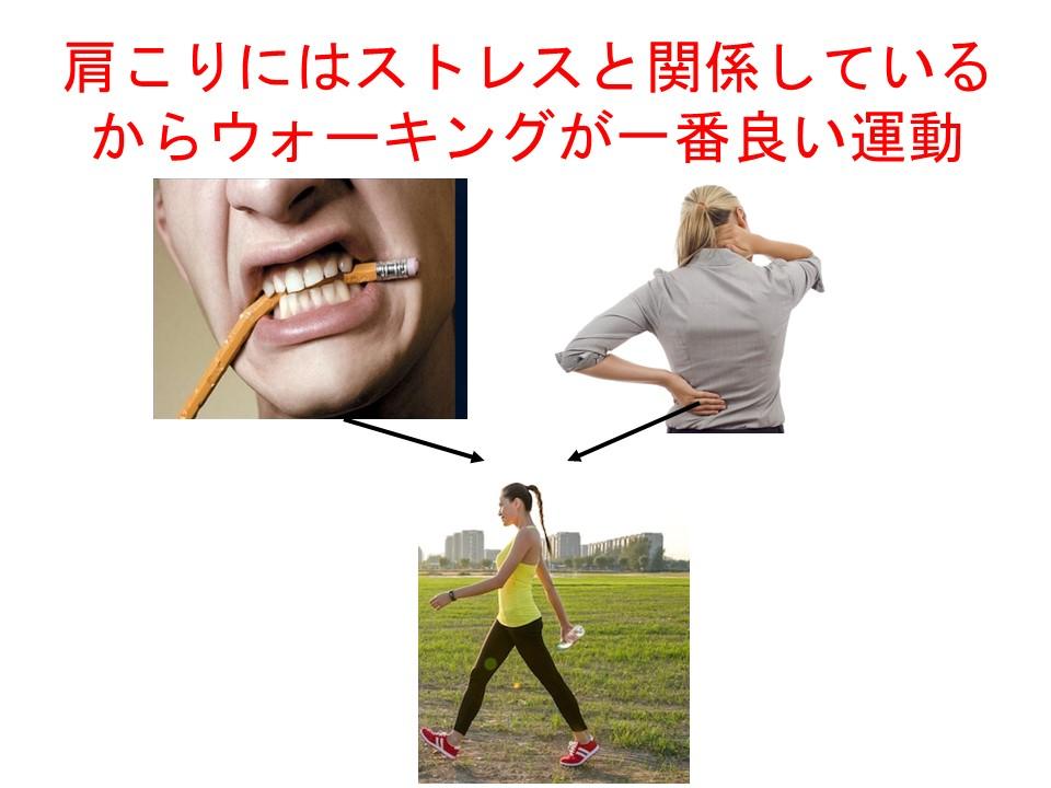 肩凝りにウォーキングは肉体的と精神的ストレスを発散する効果あり