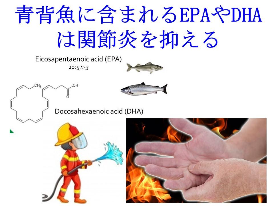 青背魚に含まれるEPAやDHAは炎症を沈静化する