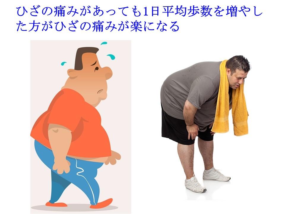 ひざに痛みがあっても工夫してウォーキングする方がひざの痛みも楽になる